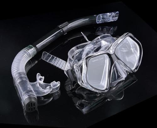 silicone mergulho mergulho mascarar óculos snorkel definir a