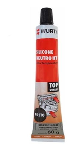 silicone neutro ht alta temperatura wurth 60g black - preto