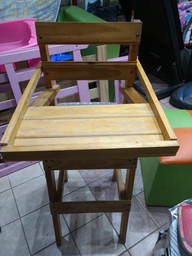 silita de comer para bebe de madera