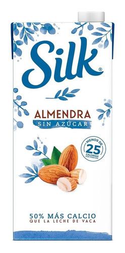 silk bebida de almendra sin azúcar 6/946ml leche