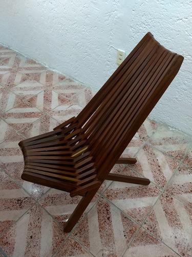silla abanico de granadillo