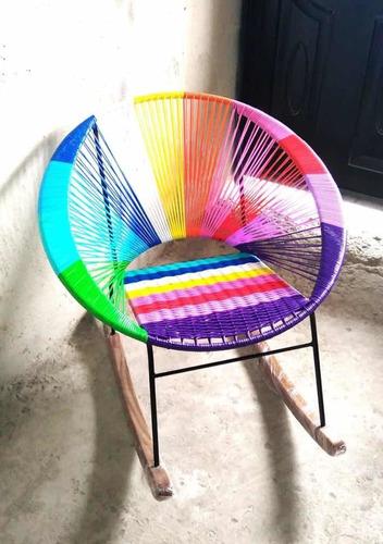 silla acapulco gruesa mecedora