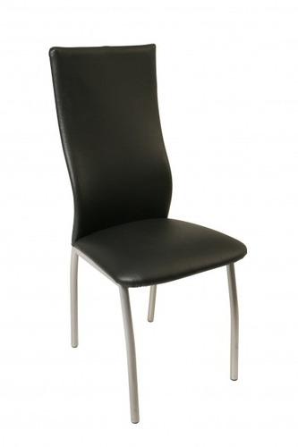 silla agus de caño tapizada en ecocuero / caño pintado