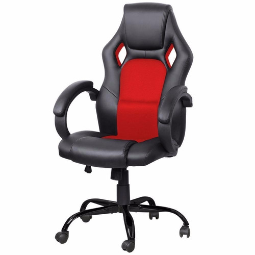 Silla ajustable de oficina gamer roja 3 en for Silla gamer precio