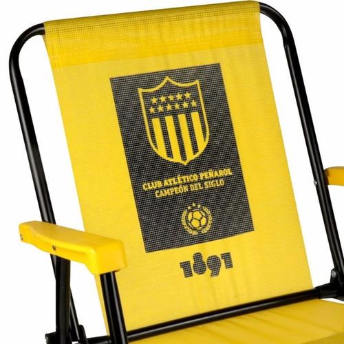 silla alta acero con diseño peñarol mor