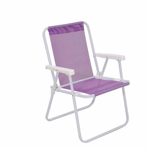 silla alta acero sannet color lila  mor