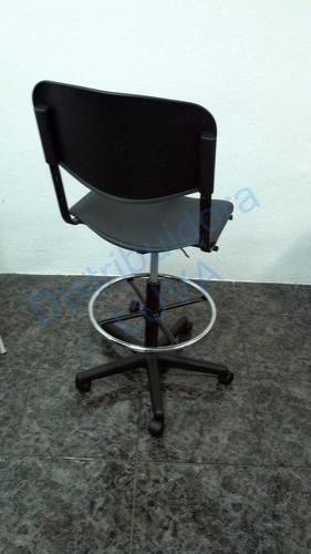 silla alta neumatica cubiertas de polipropileno