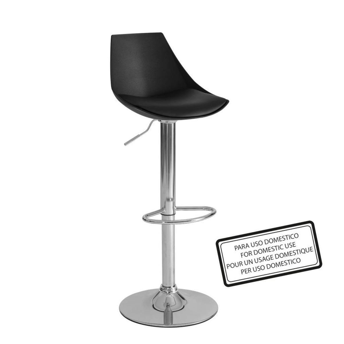 Silla alta para bar o banco de cocina color negro for Sillas altas para comedor