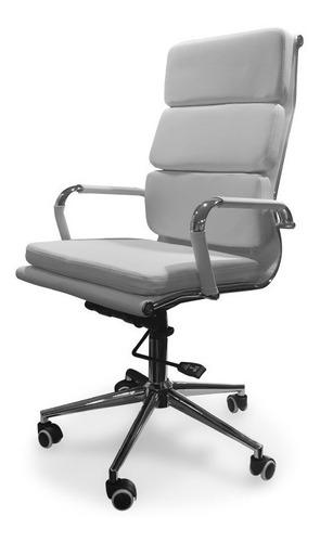 silla aluminium soft respaldo alto oficina ruedas