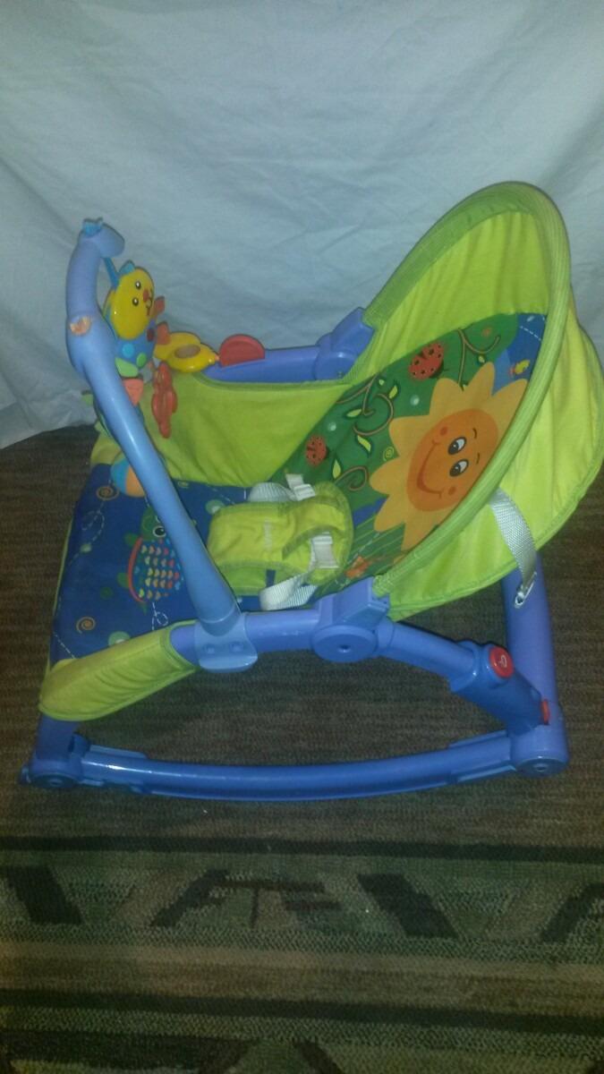 Silla amacadora mecedora para bebe infanti en for Silla mecedora para bebe