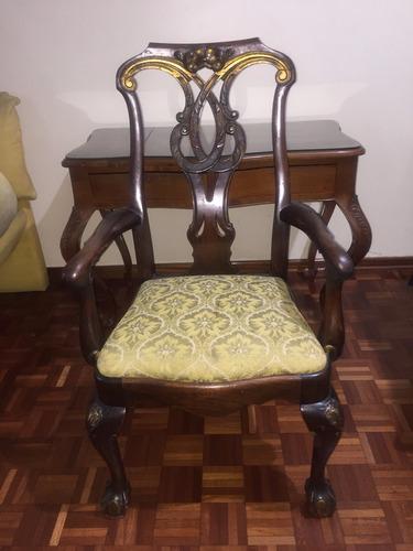 silla antigua de época luis xv, excelente estado