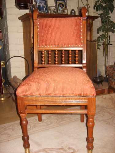 Silla antigua estilo ingles de nogal en mercado - Sillas estilo ingles ...