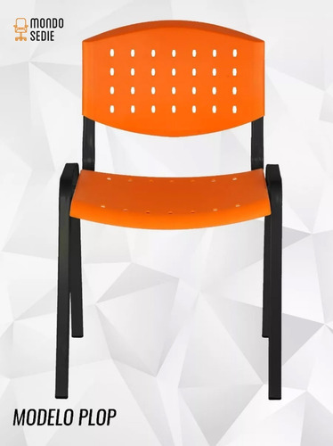 silla apilable fija de oficina escritorio bar jardín