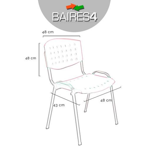 silla apilable fija plastico oficina entrega inmediata.