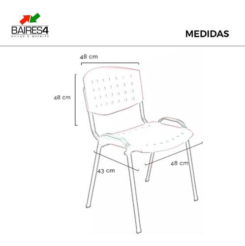 silla apilable fija plastico oficina stock entrega inmediata