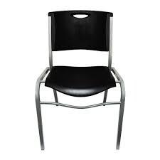 silla apilable lifetime color negro