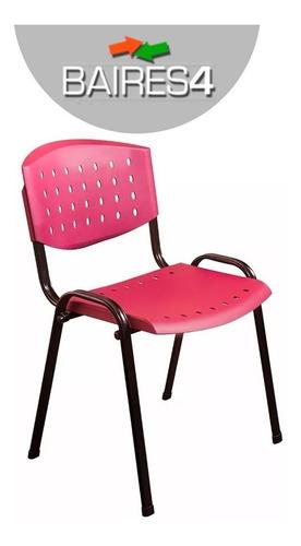 silla apilable oficina plástica reforzada x 4 unida baires 4