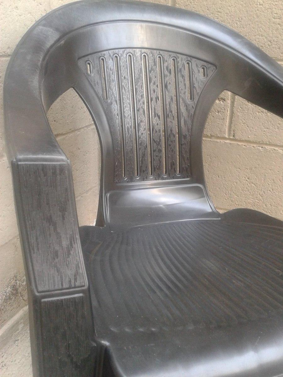 Silla Apilable Plastica Color Negro Directo De Fabrica