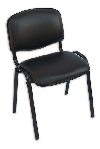 silla apilable tapizada fija de oficina hogar recepción