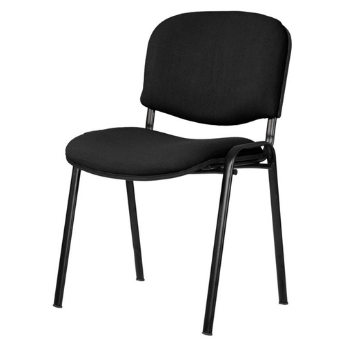 silla apilable tapizada oficina fija reforzada