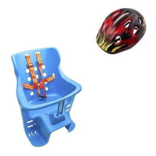 silla asiento niño bebe bicicleta + casco bebe/forcecl
