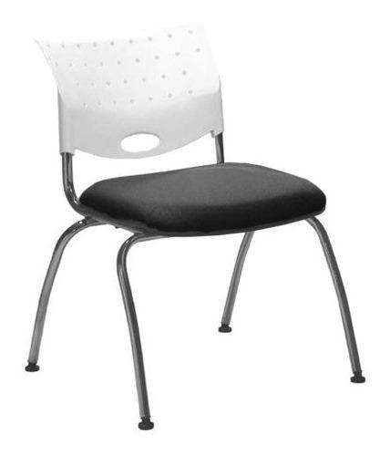 silla athina 204 apilable cromada oficina espera kromo-s