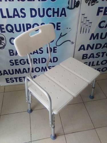 silla banca ducha baño con extension y respaldo