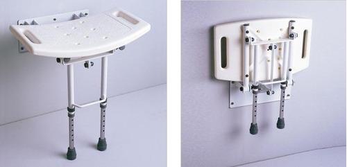 silla banco ducha aluminio ligera resistente pared abatible