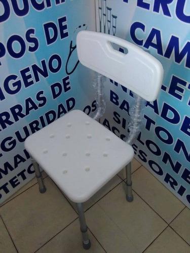 silla banco ducha aluminio ligera y resistente