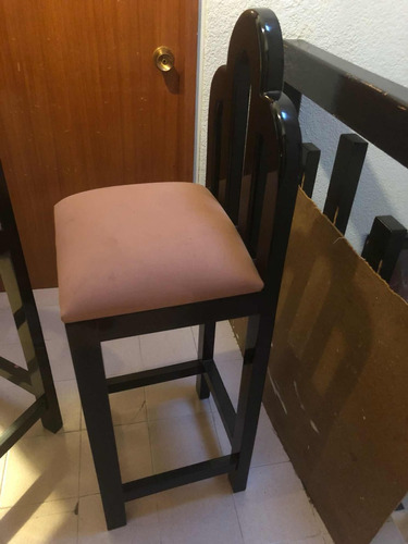 silla banco en madera de caoba