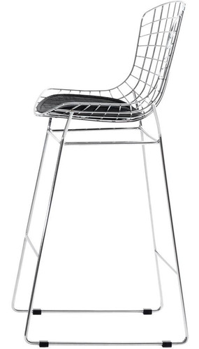 silla banqueta alta bertoia + almohadon - ideal barras o desayunadores !!