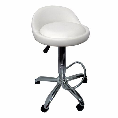 silla banqueta blanca ruedas consultorio masaje envio gratis