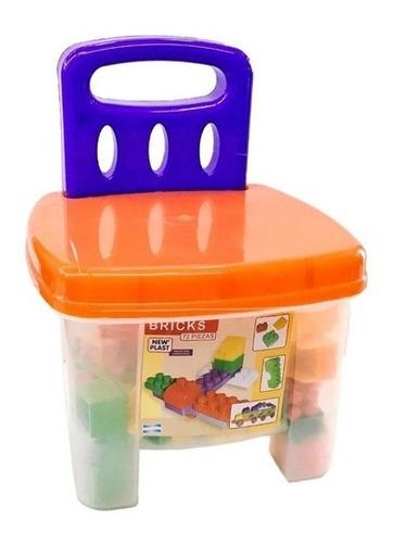 silla banquito balde ladrillos 72 bloques new plast cadia