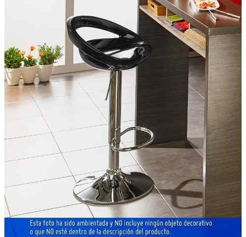 silla bar media luna barra mesa alta negra colimportaciones