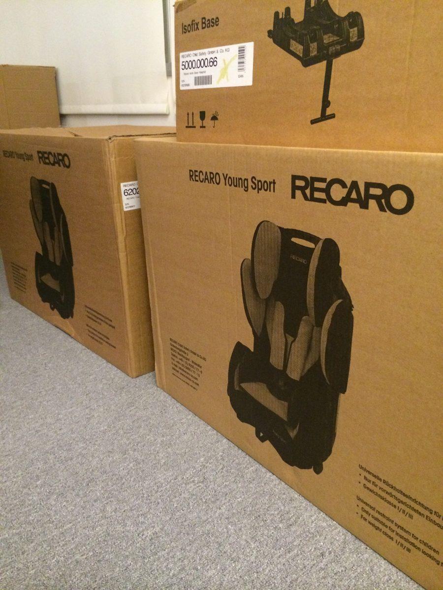 recaro silla de bebe para auto young sport u s 550 00 en. Black Bedroom Furniture Sets. Home Design Ideas