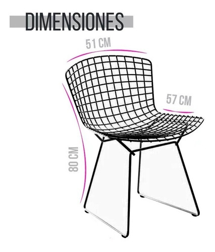silla bertoia pintada estructura metalica diseño moderno #6