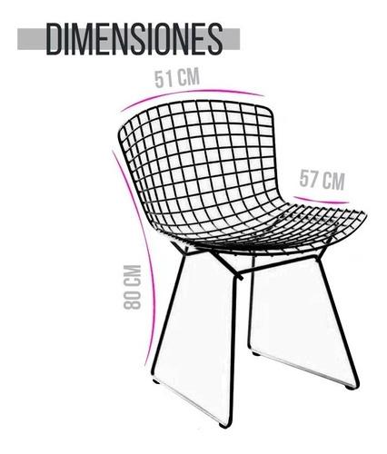 silla bertoia pintada estructura metalica epoxi c/ envio #6