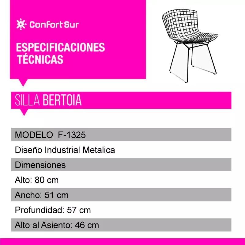 Silla Bertoia Pintada Estructura Metalica Epoxi C Envio 6