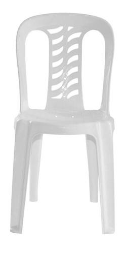 silla bistro blanca garden life apilable kromo-s