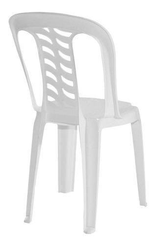 silla bistro x 4 blanca garden life apilable kromo-s