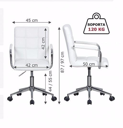 Silla blanca peluqueria oficina consultorios escritorio for Silla escritorio blanca