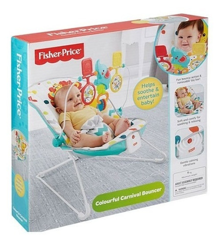 silla bouncer colorful carnival fisher price con vibración