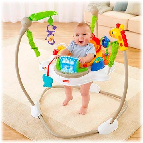 Silla brincolin saltarin rainforest fisher price 2 890 for Silla bebe 6 meses
