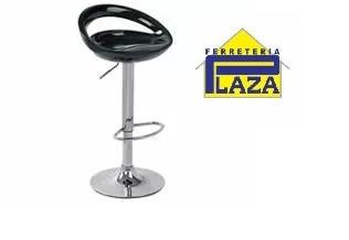 silla butaca alta neg/roj giratoria apoya pies cromado