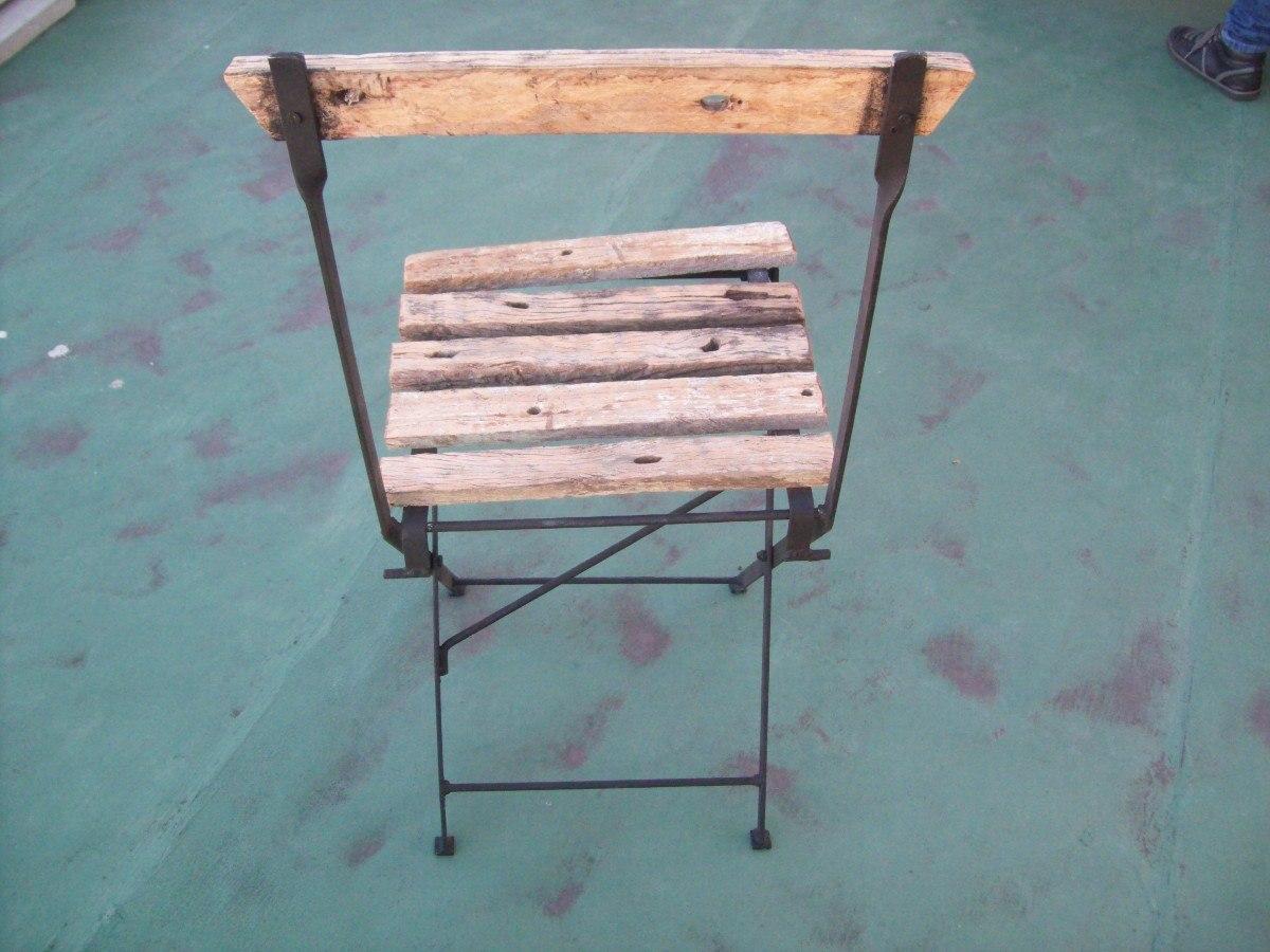 Silla butaca plegable de madera pique y hierro nuevas for Sillas montevideo