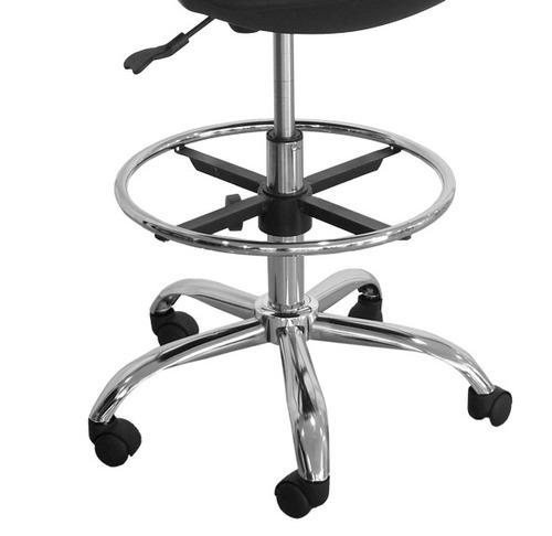 silla cajero, dibujante, atlanta en tela base cromada