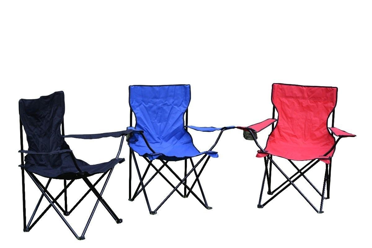 Silla Camping Plegable De Lona Tipo Campismo Con Funda 19900 En - Sillas-de-lona-plegables