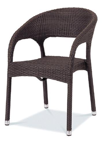 silla cannes asiento, respaldo y brazos mimbre café durex