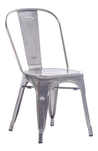 silla caño comedor tolix hierro color metalizada reforzada