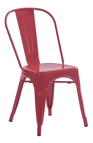 silla caño comedor tolix reforzada apilable negro colores